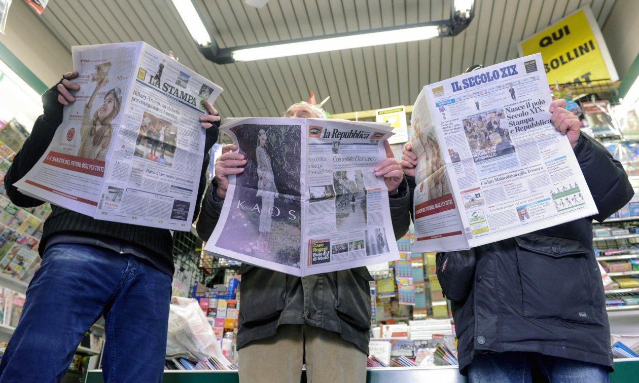 The L'Espresso media group publishes La Repubblica, La Stampa and Il Secolo XIX.