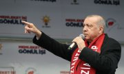 Erdoğan at a campaign rally in Gaziantep. (© picture-alliance/dpa)