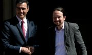PM Pedro Sánchez with Podemos leader Pable Iglesias. (© picture-alliance/dpa)
