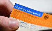 A German organ donor card. (© picture-alliance/dpa)