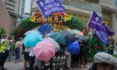 Protestierende in Hongkong am 1. Juli. (© picture-alliance/dpa)