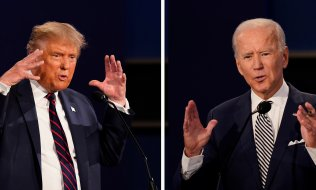 The Presidential candidates in 2020: incumbent Donald Trump (Republican, left) and challenger Joe Biden (Democrat) (© picture-alliance/dpa)