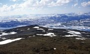 A view of the mountains in the Halti region in the Finnish part of Lapland. (© picture-alliance/dpa)