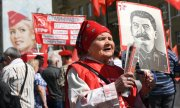 Members of the Russian Communist Party on May 1, 2017. (© picture-alliance/dpa)