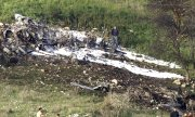 Israeli security forces at the crash site of the F-16 fighter jet. (© picture-alliance/dpa)