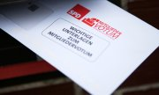 Ballot for the SPD member vote. (© picture-alliance/dpa)