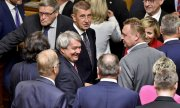 Andrej Babiš (middle) heads Prague's new minority government.(© picture-alliance/dpa)