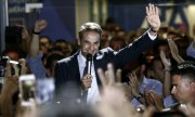 Mitsotakis's Nea Dimokratia won with just under 40 percent of the vote. (© picture-alliance/dpa)