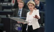 """Whoever seeks to weaken this Europe will have to contend with me"", said Ursula von der Leyen. (© picture-alliance/dpa)"