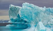 Icebergs in the Davis Strait off Ilulissat in western Greenland. (© picture-alliance/dpa)