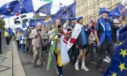 Brexit-Gegner auf einer Demonstration am 3. September in London. (© picture-alliance/dpa)