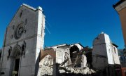 The destroyed San Benedetto basilica in the town of Norcia. (© picture-alliance/dpa)