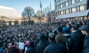 Protests against violent crime in Sweden following the murder of a 16-year-old girl. (© picture-alliance/dpa)