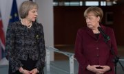 May and Merkel at a meeting in November 2016. (© picture-alliance/dpa)