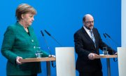 Leaders of the CDU and SPD, Angela Merkel and Martin Schulz. (© picture-alliance/dpa)