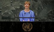 La présidente estonienne Kersti Kaljulaid. (© picture-alliance/dpa)
