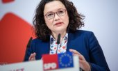 Andrea Nahles, présidente du SPD. (© picture-alliance/dpa)