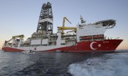 The Turkish drilling ship Fatih, pictured here in October 2018 off the coast of Antalya. (© picture-alliance/dpa)