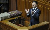 Zelensky lors de son investiture. (© picture-alliance/dpa)