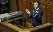 Zelensky during his inauguration. (© picture-alliance/dpa)