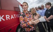 Mette Frederiksen, leader and leading candidate of the Social Demcrats. (© picture-alliance/dpa)