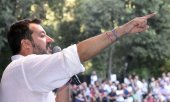 Lega leader Salvini let the coalition with Cinque Stelle collapse on August 8. (© picture-alliance/dpa)