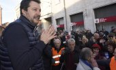 Meeting de Salvini, le 20 janvier 2020, en Emilie-Romagne. (© picture-alliance/dpa)
