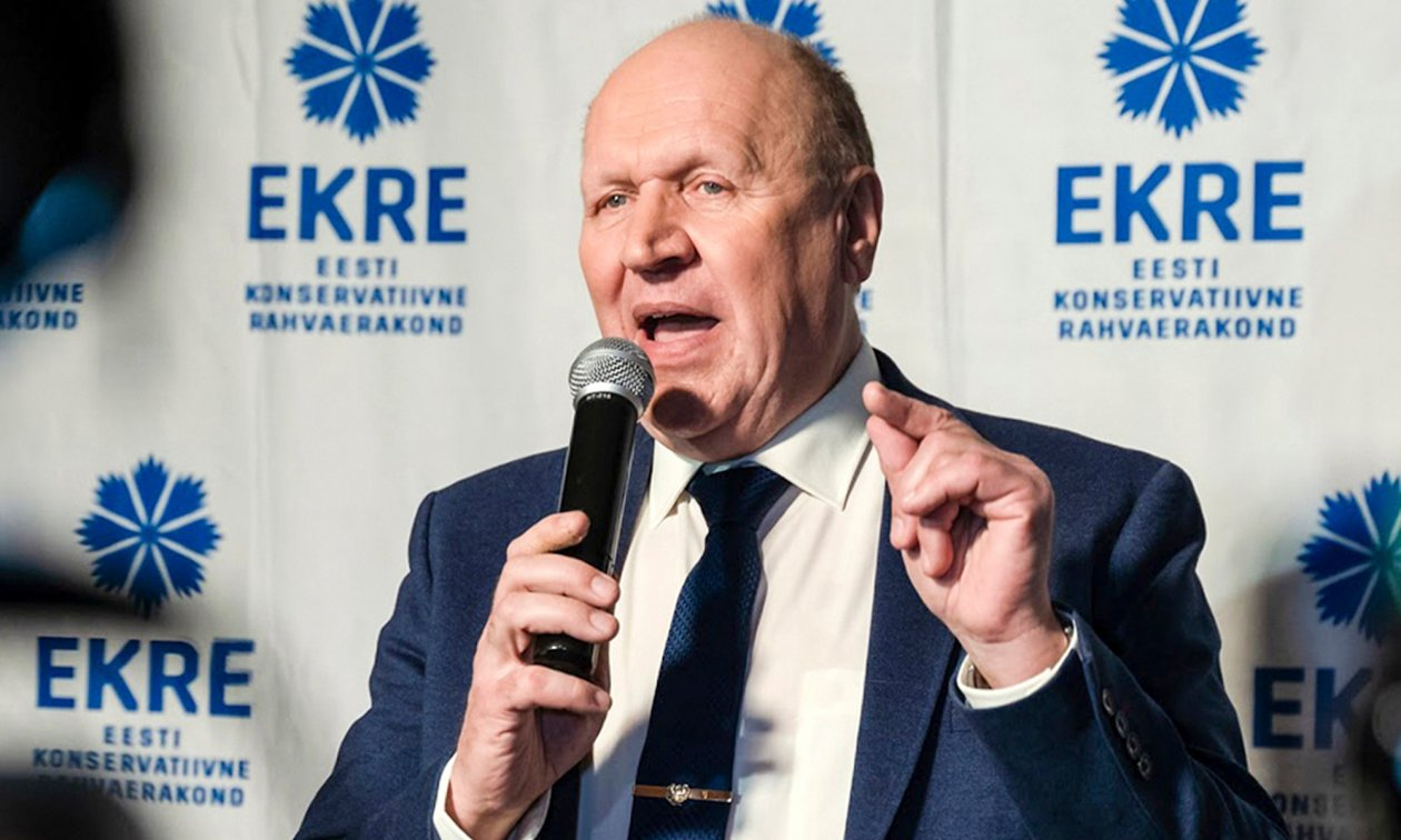 "Estonia's Interior Minister Mart Helme, a member and former leader of the far-right Ekre party. In 2019, he called for all journalists at public broadcasters who displayed ""prejudices"" against his party to be sacked."