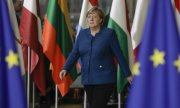 Chancellor Merkel at the EU summit in October in Brussels. (© picture-alliance/dpa)