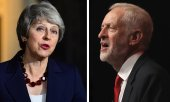 Theresa May and Jeremy Corbyn. (© picture-alliance/dpa)