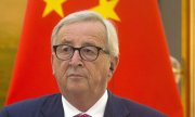 EU Commission President Jean-Claude Juncker at the EU-China summit 2018. (© picture-alliance/dpa)