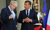 Macron remained firm but Johnson feels he came out winning. (© picture-alliance/dpa)