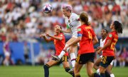 Last-sixteen match between Spain and the US at the Women's World Cup 2019. (© picture-alliance/dpa)