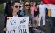 Rally in Minsk in support of Belarusian IT companies in early September 2020 (© picture-alliance/dpa)