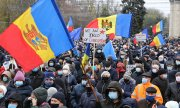 An anti-corruption demonstration in Chișinău, Moldova, on December 6, 2020.  (© picture-alliance/dpa/Mihai Karaush)