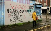 Graffito in Belfast. (© picture-alliance/David Young)