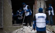 According to OSCE observers, the missiles came from areas controlled by separatists. (© picture-alliance/dpa)