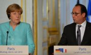 Hollande wanted a quick deal on a new bailout programme after the referendum, while Merkel said she saw no basis for it. (© picture-alliance/dpa)