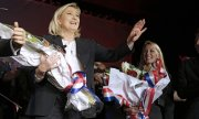 Front National leader Marine Le Pen. Voter turnout was around 51 percent. (© picture-alliance/dpa)