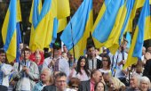 Celebrating 25 years of independence in Lviv. (© picture-alliance/dpa)