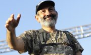 The leader of the protest movement, Nikol Pashinyan. (© picture-alliance/dpa)
