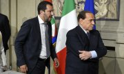 Lega leader Salvini (left) and his ally Berlusconi. (© picture-alliance/dpa)