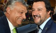Italy's Interior Minister Salvini (r.) and Hungarian Prime Minister Orbán. (© picture-alliance/dpa)