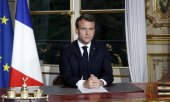 "In his televised speech President Macron said: ""We can do it"". (© picture-alliance/dpa)"