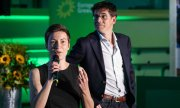 The lead candidates of the Greens, Ska Keller and Bas Eickhout. (© picture-alliance/dpa)