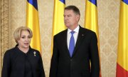 Viorica Dăncilă and Klaus Johannis. (© picture-alliance/dpa)
