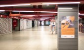 The deserted Milan Metro on 11 March. (© picture-alliance/dpa)