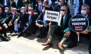 Lawyers protesting in Ankara on 22 June 2020. (© picture-alliance/dpa)