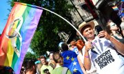An der Gay-Pride-Parade 2015 in Budapest. (© picture-alliance/dpa/Boglarka Bodnar)